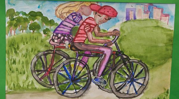 Фотографии с детских велосоревнований