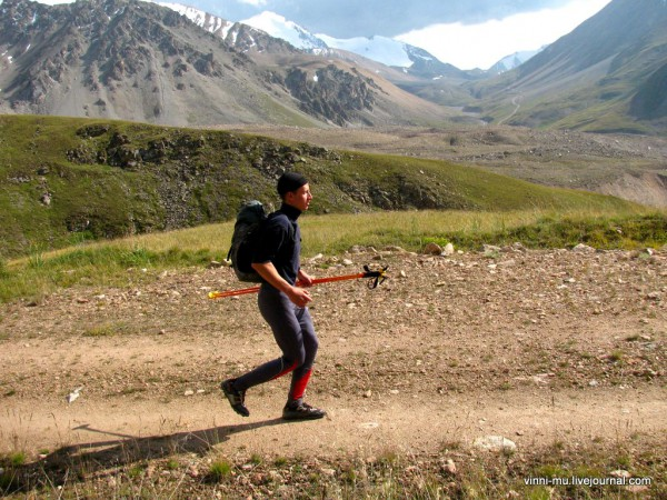 Горы на заднем плане - Киргизия.
