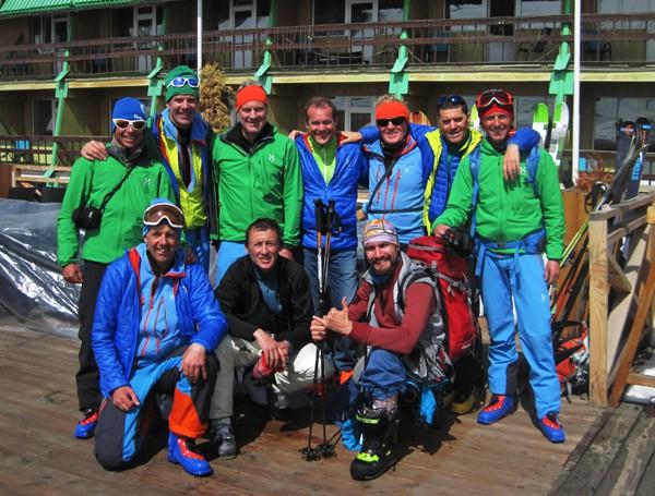 Бродский с итальянскими скитуристами